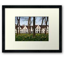 Brugge, Belgium, Begijnhof Ten Wijngaerde Framed Print