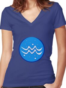 Aquarius Women's Fitted V-Neck T-Shirt