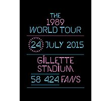 24th July - Gillette Stadium Photographic Print