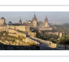Fairytale Medieval Castle Panorama at Sunrise Sticker