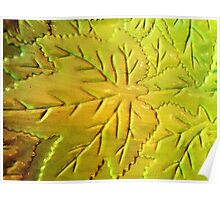 Green Gloss Leafs Poster