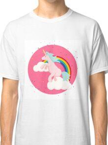Unicorn Horse and Magic Rainbow Classic T-Shirt