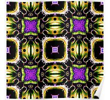 Purple Tiled Passion  Poster