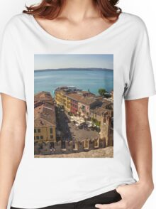 Lake Garda and Sirmione Old city in Italy Women's Relaxed Fit T-Shirt
