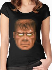 Doom Face 7 Women's Fitted Scoop T-Shirt