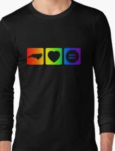 NC Loves Equality symbols--horizontal rainbow Long Sleeve T-Shirt