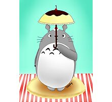 Dessert Themed Totoro - Pudding and Pancakes Scene Photographic Print