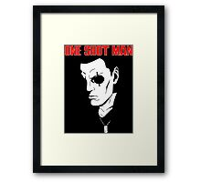 Saito (ghost in the shell) - One Shot man Framed Print