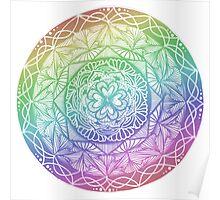Rainbow Mandala Zentangle Poster