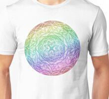 Rainbow Mandala Zentangle Unisex T-Shirt