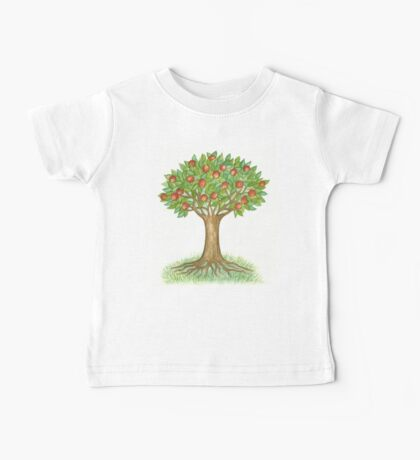 UNIQUE APPLETREE WITH RIPE APPLES  Baby Tee