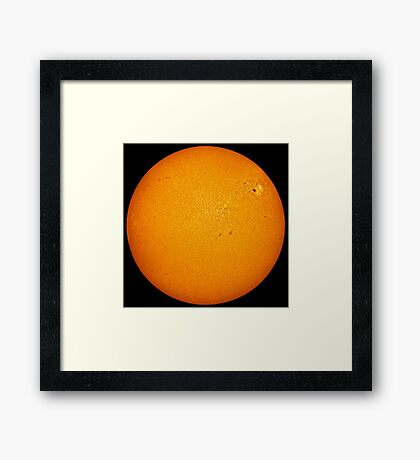 Sun disc in Hydrogen Alpha Framed Print