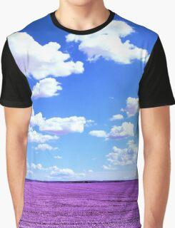 Purple Field Graphic T-Shirt