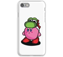 Kirby with Yoshi Hat Fanart iPhone Case/Skin