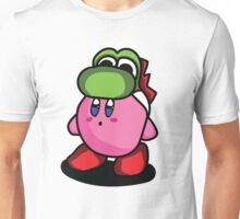 Kirby with Yoshi Hat Fanart Unisex T-Shirt