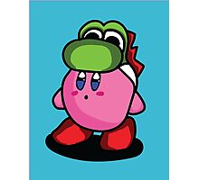 Kirby with Yoshi Hat Fanart Photographic Print