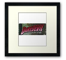 Daredevil - The man without fear! Framed Print