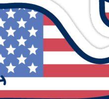 USA Flag Vineyard Vines Sticker