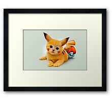 Pikachu Pop Art Framed Print