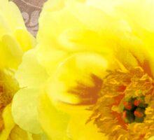 Butter yellow Peonies, floral art Sticker