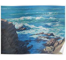 Along the Cliffs - Seascape Poster