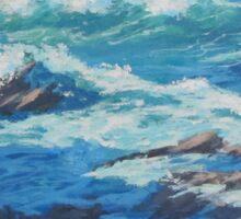 Along the Cliffs - Seascape Sticker