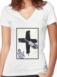 Grand Central Station of the Cross Women's Fitted V-Neck T-Shirt