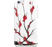Pink flowers of sakura  iPhone Case/Skin