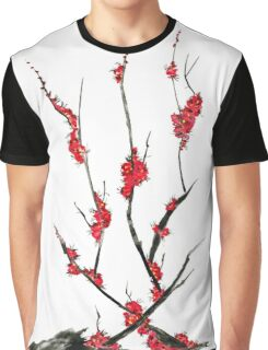 Pink flowers of sakura  Graphic T-Shirt
