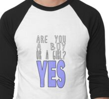Boy/Girl YES Men's Baseball ¾ T-Shirt