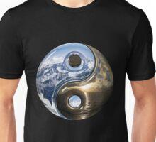 Yin Yang Sea Mountains As Planet Earth Unisex T-Shirt