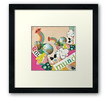 Collage Pop Framed Print