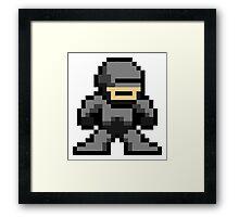 8 bit Robocop Framed Print