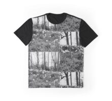 Monochrome Daffodils Graphic T-Shirt