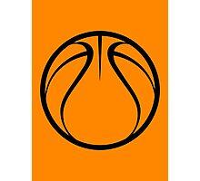 Orange Basketball Photographic Print