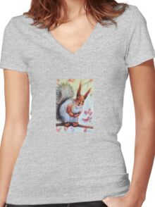 Hi There! Women's Fitted V-Neck T-Shirt