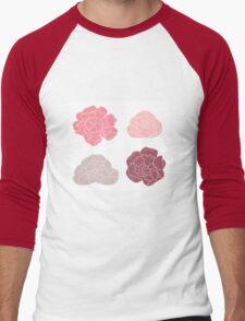 Sweet Peony flowers collection Men's Baseball ¾ T-Shirt