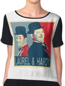 LAUREL AND HARDY, HOPE POSTER Chiffon Top