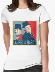 LAUREL AND HARDY, HOPE POSTER Womens Fitted T-Shirt