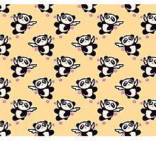 Angel Panda Pattern Photographic Print
