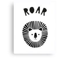 Lion Roar in Monochrome Canvas Print