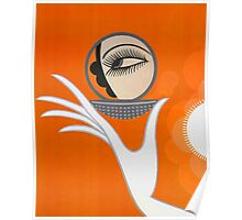 Playful Art Deco cute makeup fashion art Poster