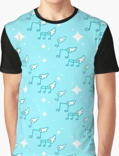 Music Notes Pattern Graphic T-Shirt