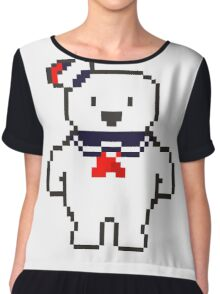 Stay Puft Marshmallow man Chiffon Top