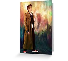 Time Traveller with abstract background art painting Greeting Card