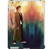 Time Traveller with abstract background art painting iPad Case/Skin