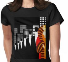 Sophisticated Art Deco Vintage Fashion illustration Womens Fitted T-Shirt