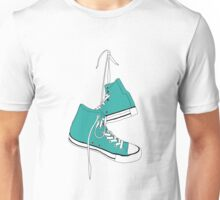 Turquoise High Tops Unisex T-Shirt