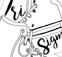 Tri Sigma High Tops Sticker