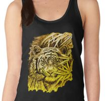 King of the Jungle in orange-yellow Women's Tank Top